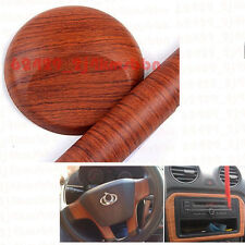 18 x 48Inch Rosewood Brown Wood Grain Texture Car Vinyl Wrap Sticker Decal Film
