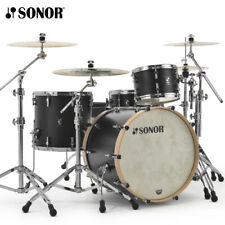 """Sonor SQ1 Series 22"""" 3pcs Drum Shell Pack GT Black w/ Natural Hoops SQ1-322NMCGT"""