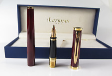 WATERMAN PREFACE THRILLER RED & GOLD  FOUNTAIN PEN 18K GOLD MEDIUM PT NEW IN BOX