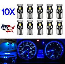 10X - T10 W5W 168 194 2825 LED Bulbs 3030 3SMD LED interior Light - BLUE