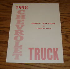1958 Chevrolet Truck Wiring Diagram Manual for Complete Chassis 58 Chevy