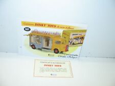 1 record + certify. dinky toys atlas repro ref 587, citroen hy philips