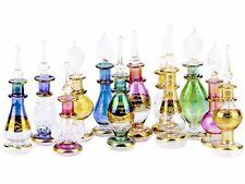"NileCart™ Egyptian Perfume Bottles Set Of 24 Size 2"" (5 cm) HM golden decoration"