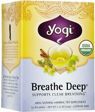 Yogi Organic Tea Bags, Breathe Deep 16 ea (Pack of 6)