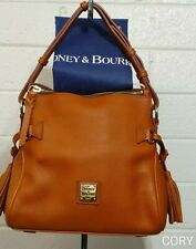 DOONEY & BOURKE MINI SATCHEL SHOULDER BAG PEBBLED LEATHER BRITISH TAN RT79B