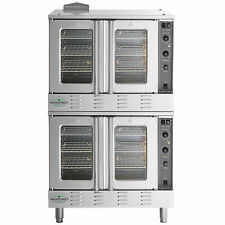 New Double Deck Natural Gas Full Size Commercial Convection Oven Amp Legs 120v