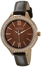 Caravelle Nuovo York WOMEN'S 44L124 Display Analogico Giapponese Quarzo Marrone Orologio