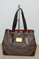 Louis Vuitton LV Hampstead MM Damier Ebene Shoulder Tote Bag Used Authentic