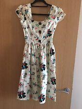 Bernie Dexter Femmes Blanc Vintage Atomic Imprimé 1950 S Style Robe Taille XS/6-8