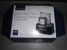 "Insignia NS-PCHDEDS19 2-Bay, Dual Hard Drive Docking Station (2.5"" & 3.5"" Sata)"