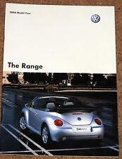2004 VW RANGE Brochure -Lupo Polo Golf Beetle Bora Passat Touareg Phaeton Sharan