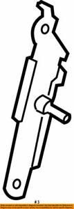 73200-53010 Toyota Adjuster assy, front shoulder belt anchor 7320053010, New Gen
