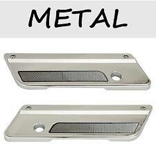 Chrome Saddlebag Metal Latch Covers Clear Reflectors for Harley Electra 93-2013