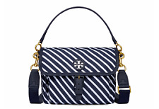 NWT Tory Burch Scout Striped Nylon Crossbody Bag