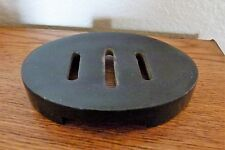 "NEW Simple black Oval Soapstone Soap Dish 4.5 x 3.5 x .75"" made in India"