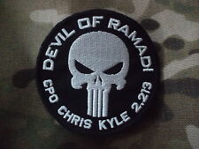 CHRIS KYLE AMERICAN SNIPER devil of ramadi VELCR0 PATCH BADGE devgru SEAL TEAM