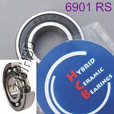 6901 2rs Si3n4 Hybrid Ceramic Ball Bearing Rubber 12 X 24 X 6mm