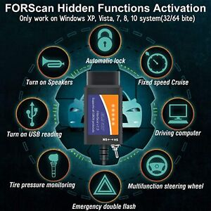 FORScan ELM327 USB Modified OBD2 Code Reader MS/HS CAN Diagnostic Tool For Ford