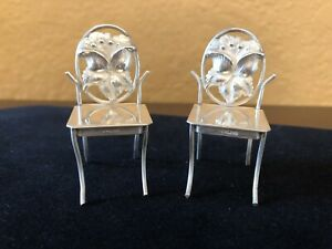 Dollhouse Miniature Baroque Chairs Sterling Silver