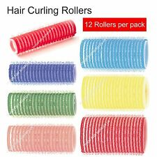 Self Grip Hair Curling Rollers Self Cling Stick Set PACK of 12 All SIZES STOCKED