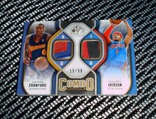 09-10 UD SP Game Used Combo Allen Iverson Jamal Crawford Jersey Patch 19/99