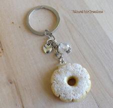 Portachiavi biscotti canestrelli in fimo dolce creato a mano regalo