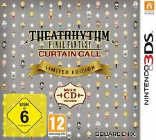 Theatrhythm Final Fantasy Curtain call Limited Edition (Nintendo 3ds) nuevo embalaje original &