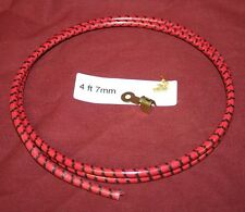 4 ft 7mm Red Plug Wire Ring End Hit & Miss Gas Engine