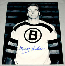Original Nhl Murray Henderson Boston Bruins Signed Hockey Photo