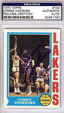 CONNIE HAWKINS Autographed Signed 1974 Topps Card Los Angeles Lakers PSA/DNA