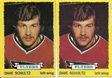 Lot of 2 Dave Schultz 1973-74 Topps #149 Rookie Card Flyers  MHK81