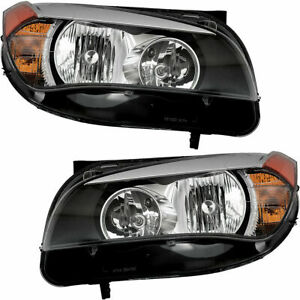 FIT FOR BMW X1 2013 2014 2015 HEADLIGHT HALOGEN RIGHT & LEFT PAIR SET
