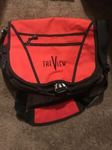 The View Promo Messenger Bag Whoopi Rare Talk Show TV Merch CLEAN Red New