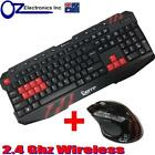 New 2.4G Wireless Gaming keyboard and Mouse Set Bundle Computer PC Multimedia