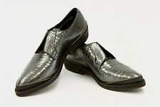 .NWOB 95 Brunello Cucinelli Leather Brown Monili Beaded Derby Shoes  37/7 US