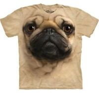 THE MOUNTAIN PUG  DOG PUPPY ANIMAL  BIG FACE ADULT  T SHIRT