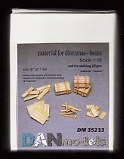 DM35233/ DANmodels - Dioramenzubehör - Holzkisten - 10 Stück - 1/35