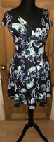 Pretty With Love Jessica Size 14 1950s Retro Dress Black  Rose Floral Sweetheart