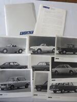 1972 Fiat Press Kit Brochure Photos 124 Sport Spider 128 Sport Coupe Wagon +
