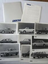 1972 Fiat Press Kit Brochure Photos 124 Sport Spider 128 Sport Coupe Wagon +
