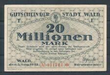 Wald  -  Stadt  -  20 Millionen Mark  -  Buchst. F