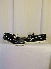 chaussures bateau sebago cuir verni noir 38 (7M)