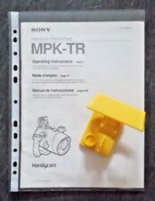 SONY HANDYCAM Marine Pack MPK-TR SPORTS FINDER & Manuel d'instruction Lot (1990 S)