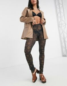 Free People Layered in Lace Legging in Black Sz M