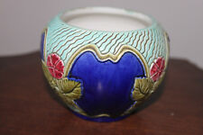 PETIT VASE ROND MAJOLICA POTTERY WS&S WILHELM SCHILLER AND SON