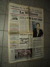 LA WALLONIE 1991/03/04 SERGE GAINSBOURG