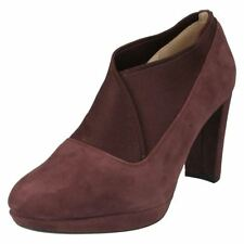 Clarks Suede Patternless Casual Heels for Women