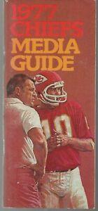 1977 Kansas City Chiefs NFL Football Media Guide