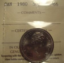 Super Gem Elizabeth II 1980 50 Cents - ICCS MS-66 (XQE 136)