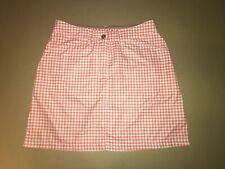 Daily Sports Orange White Plaids Skort Size 4, inner mesh shorts